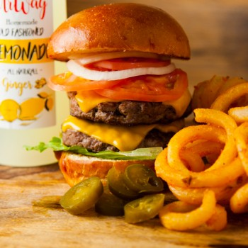 DD Burger UrWay Double Meat Cheese Steak Burger